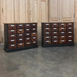 Antique French Pharmacy Cabinets With Original Enamelled Labels - a Pair Preview