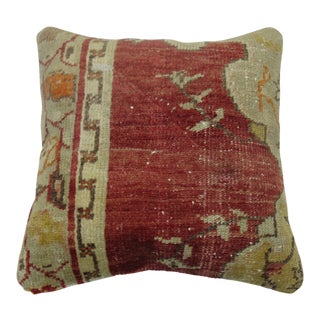 Mid 20th Century Turkish Medallion Rug Pillow For Sale