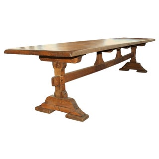 French Antique Trestle Dining Table