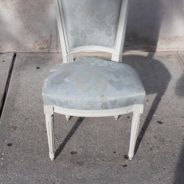 1910s Vintage French Louis XVI Side Chairs - Set of 4 For Sale - Image 9 of 12