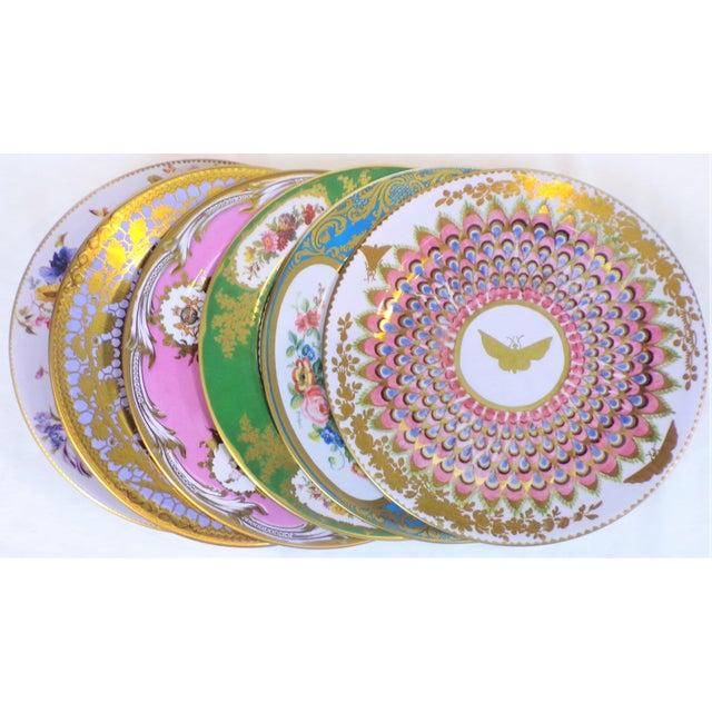 Enamaled Tin English Plates - Set of 6 For Sale In Houston - Image 6 of 6