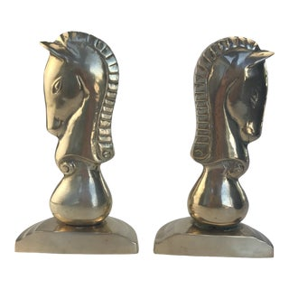 Vintage Horse Head Bookends - a Pair For Sale