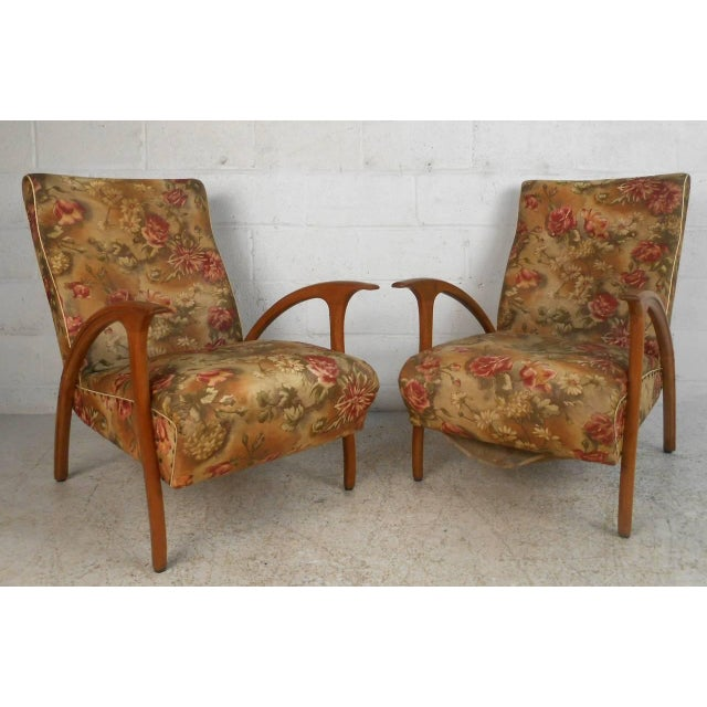 Mid-Century Modern Armchairs - A Pair For Sale - Image 9 of 9