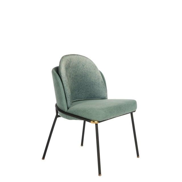 Modern Baron Sea Foam Dining Chair For Sale