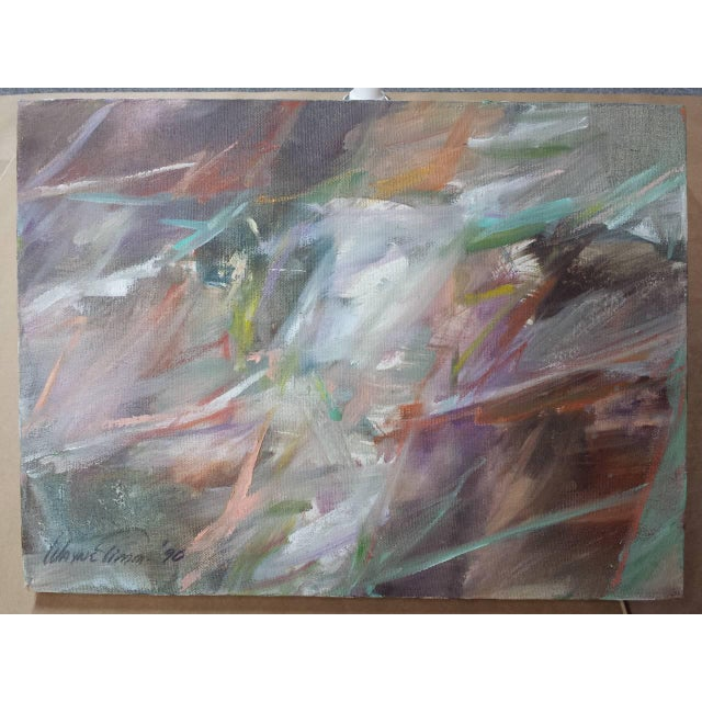 """Wayne Timm 1990s Abstract Oil on Canvas Painting """"Classic"""" by Wayne Timm For Sale - Image 4 of 9"""