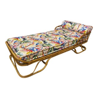 Vintage Italian Bamboo Daybed For Sale