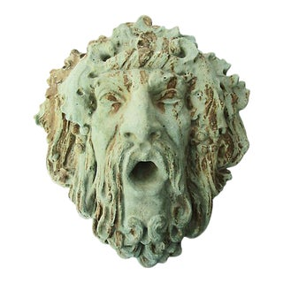 Bacchus Garden Wall Sculpture For Sale