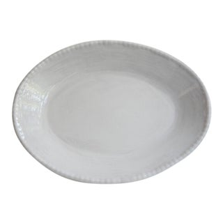 Melamine Resin Bead Oval Serving Dish - Gray For Sale