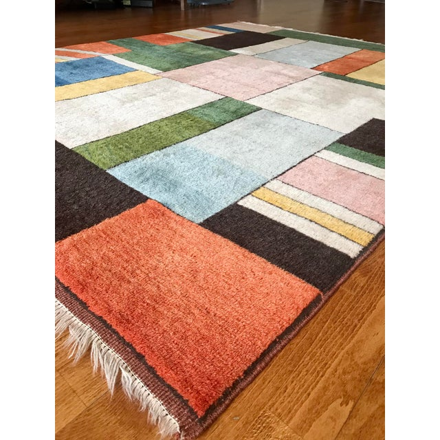 Textile Colorful Turkish Rug, Home Decor, Area Rug 6.6*5.3 Ft. For Sale - Image 7 of 12