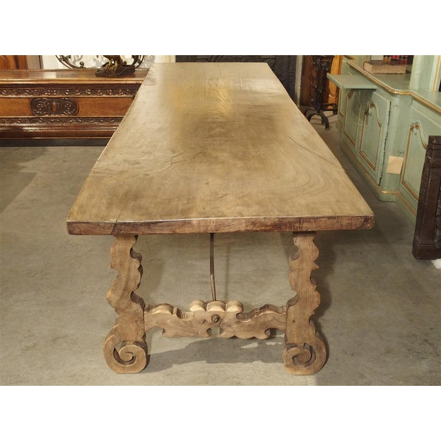 Late 19th Century Antique Single Plank Chestnut Table From Spain For Sale - Image 5 of 10