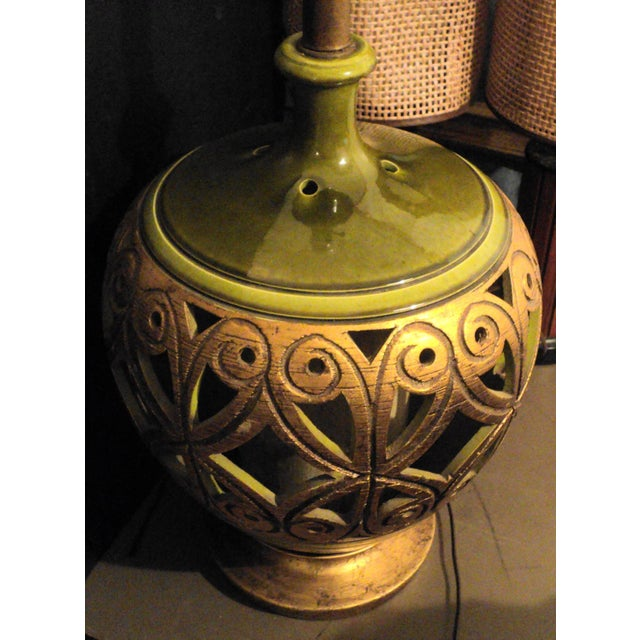 Vintage 1970s Mid-Century Modern Large Table Lamp For Sale In Philadelphia - Image 6 of 9