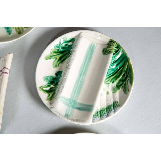 Late 19th Century French Majolica Asparagus Set, Salins, Late 19th Century For Sale - Image 5 of 9