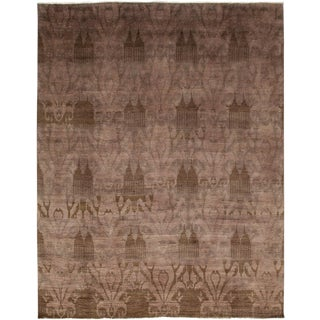 """Moroccan Hand Knotted Area Rug - 7'10"""" X 10'1"""""""