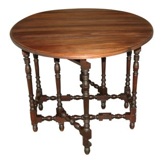 Antique Spencer Table Mahogany Gateleg Table with Original Makers Label For Sale