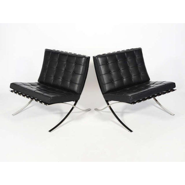 Modern Ludwig Mies van der Rohe Barcelona Chairs by Knoll For Sale - Image 3 of 11