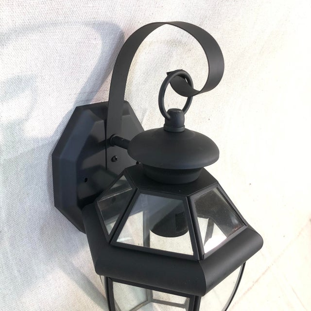 Livex Monterey 1-Light Outdoor Lantern Wall Sconce For Sale - Image 4 of 12