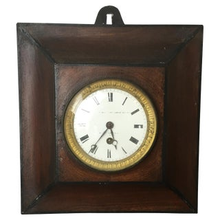 19th C. French Tole Peinte Wall Clock