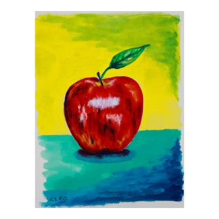 Apple Still Life Abstract Painting by Cleo