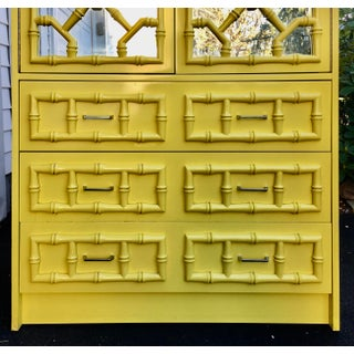 1960's Hollywood Regency Lacquered Faux Bamboo Armoire Preview