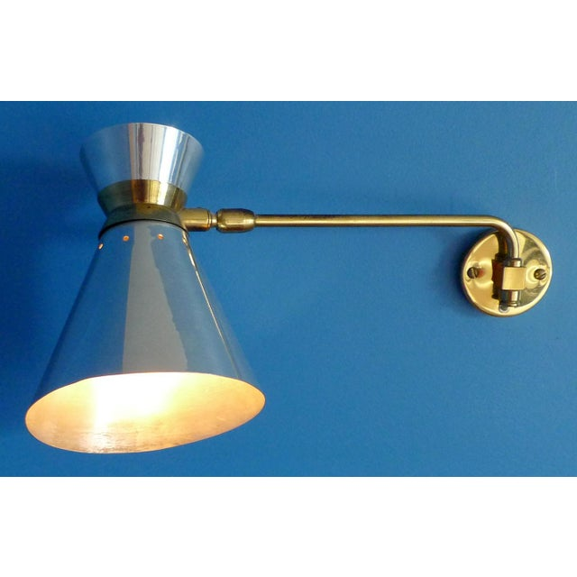 Pierre Guariche Style Adjustable Wall Sconces - A Pair - Image 2 of 9