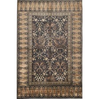 Late 20th Century Vintage Hand Knotted Rug - 5′11″ × 9′ For Sale