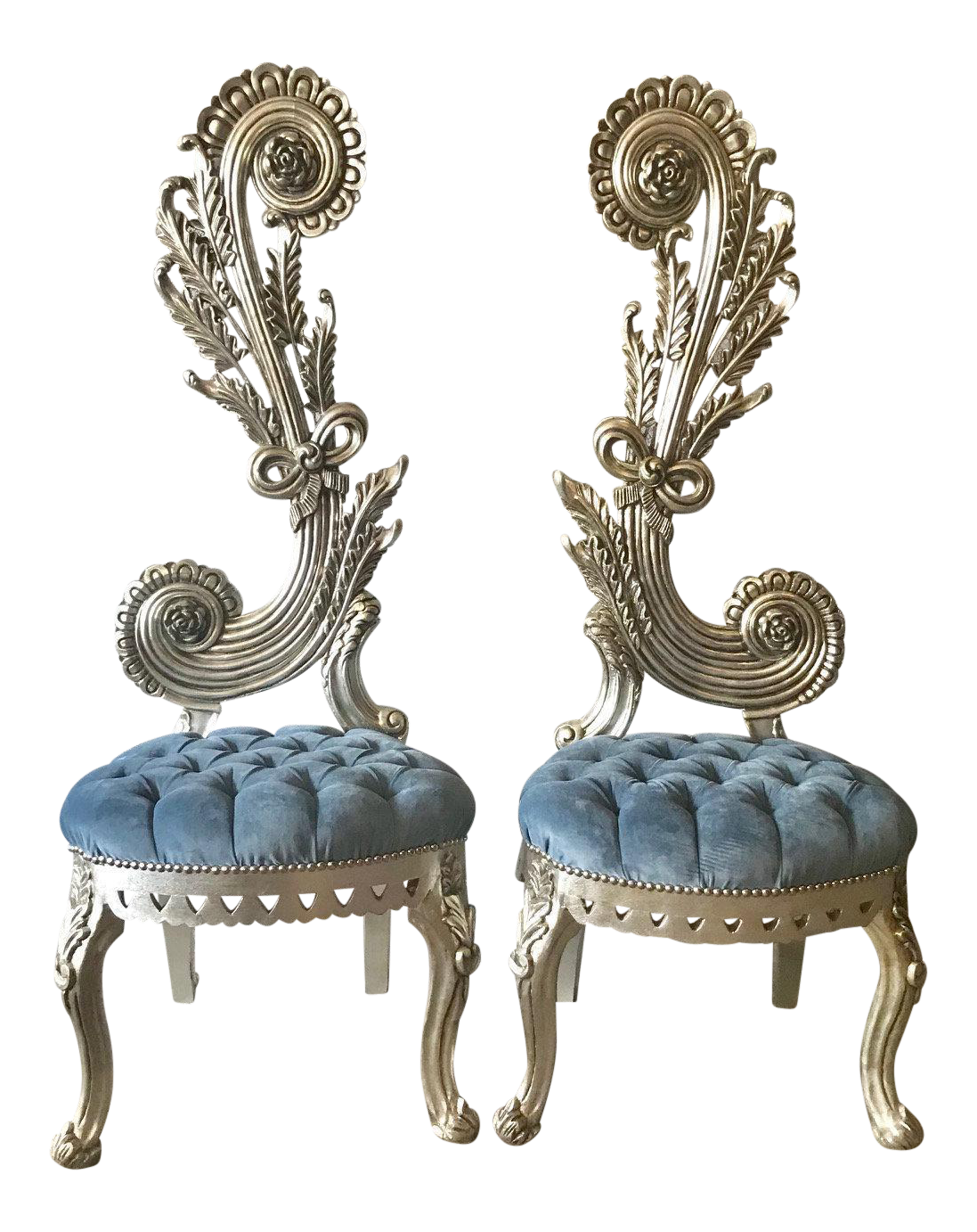French Baroque Chairs   A Pair