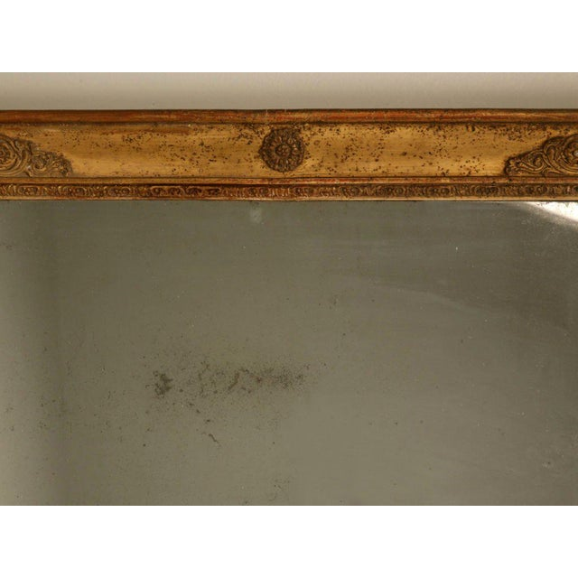 French Petite All Original 18th C. Antq French Gilt Framed Sugar Mirror For Sale - Image 3 of 12