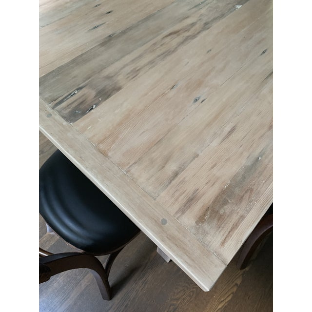 European Style Modern Farmhouse Reclaimed Wood Dining Table or XL Desk For Sale - Image 11 of 12