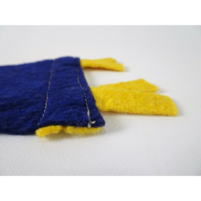 Vintage Mid-Century Montreal Canada Felt Flag For Sale - Image 9 of 10