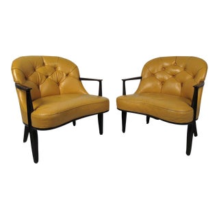 Pair of Dunbar Lounge Chairs For Sale