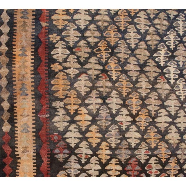 """Early 20th Century Qazvin Kilim Runner - 61"""" x 132"""" For Sale - Image 4 of 5"""