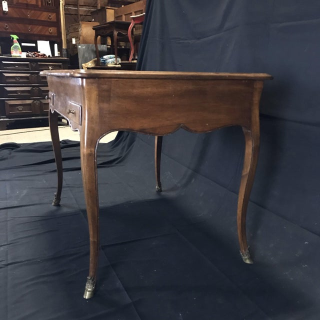 French 19th Century Antique Walnut Game or Side Table For Sale - Image 3 of 12