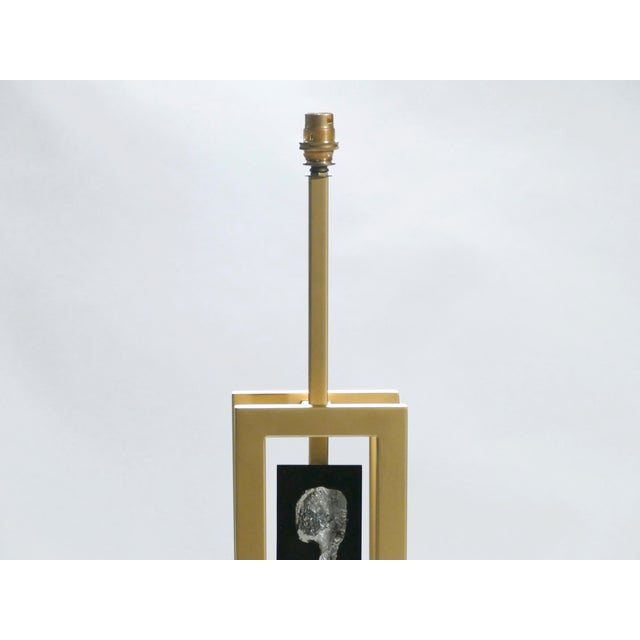 Pair of Large Philippe Cheverny Brass and Nickel Table Lamps, 1970s For Sale - Image 6 of 11