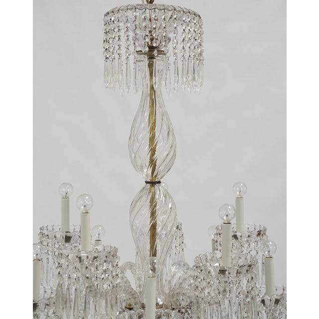 Arts & Crafts Antique Baccarat Undulating 10-Armed Crystal Waterfalls Chandelier For Sale - Image 3 of 8
