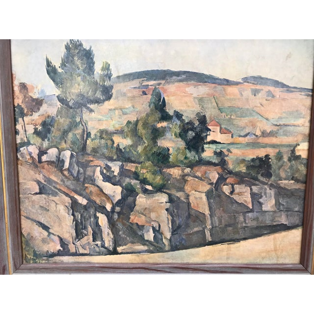 ON SALE $99. Gorgeous vintage print of an Italian Tuscan countryside scene. Attractively presented in a very unique,...