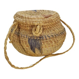 Vintage Navajo Style Southwestern Basket For Sale