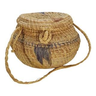 Vintage Navajo Style Southwestern Basket