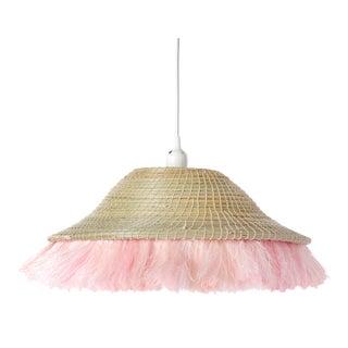 Fringe Sisal Pendant Shade Natural/Blush For Sale