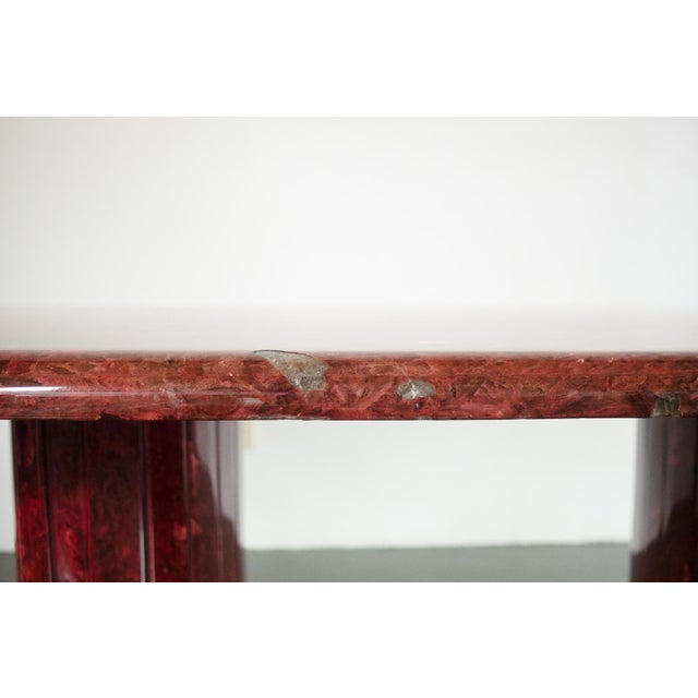 Red Quartz Dining Table For Sale - Image 9 of 10