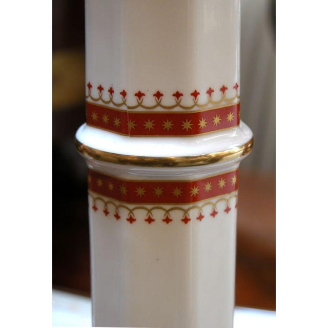 A Pair of Italian Neo-Classical Style Off-White Porcelain Lamps - Image 1 of 2