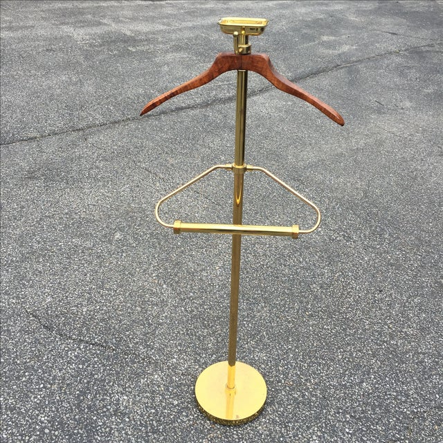 Vintage Brass & Lacquer Valet - Image 3 of 9