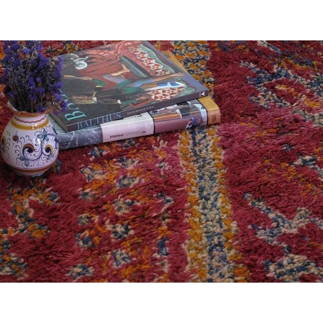 Textile Beni Mguild Moroccan Berber Carpet For Sale - Image 7 of 10