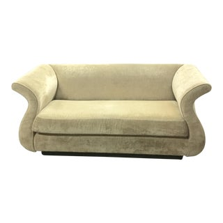 Velvet Upholstered Loveseat