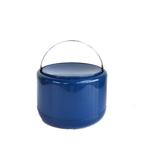 Danish Modern Vintage Danish Modern Cobalt Blue Ice Bucket For Sale - Image 3 of 9