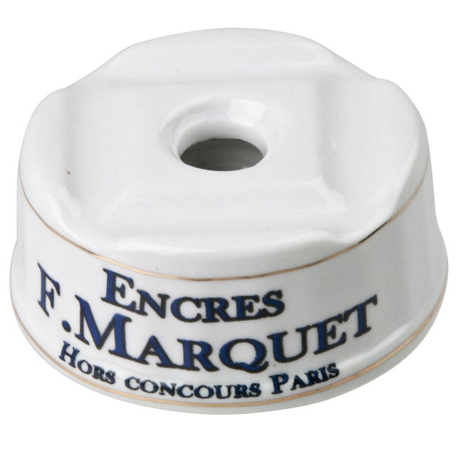 French Porcelain F. Marquet Inkwell - Image 1 of 6