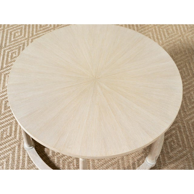 Delos White Oak Round Cocktail Table For Sale - Image 4 of 5