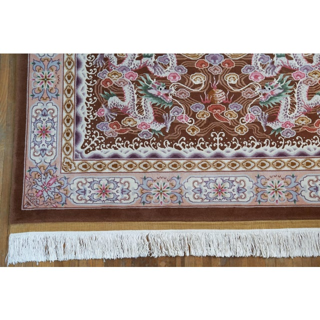 Chinese Hand Knotted Wool Dragon Rug - 6′ × 9′ For Sale In Los Angeles - Image 6 of 10
