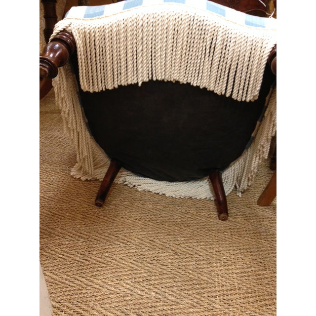 Antique English Colefax & Fowler Fabric Upholstered Nursing Chair For Sale - Image 6 of 8