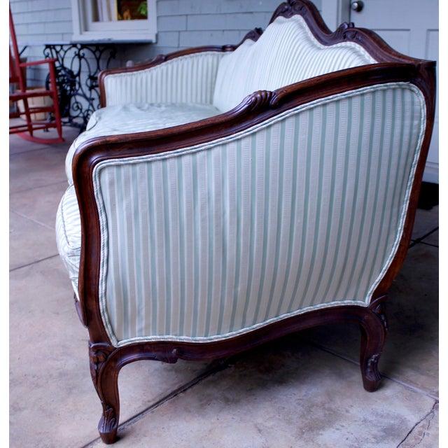 Italian Louis XV Style Walnut Sofa For Sale - Image 10 of 13
