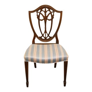 1940s Vintage Duncan Phyfe Shield Back Dining / Side Chair For Sale